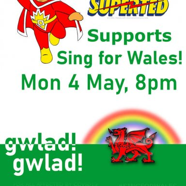 Sing For Wales Poster Saesneg w/Superted