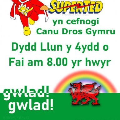 Sing For Wales Poster Cymraeg w/Superted