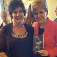 Nicola Sturgeon with Gwenno Dafydd