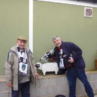 My and My late Uncle Granville (My Football Dad) in Leamington Spa following the Mighty  Martyrs.
