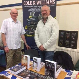 Nigel and I at the Llandeilo Book Fair.