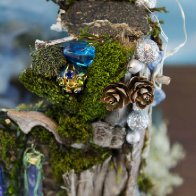 Door Into Fae Fairy House, detail view