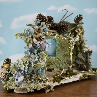 Hydrangea Fairy House, left side view
