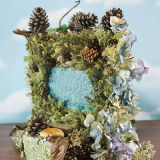 Hydrangea Fairy House, side view