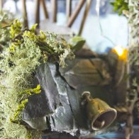 Golden Forest Fairy House, detail view