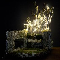 Golden Forest Fairy House, dark view