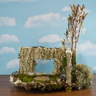 Golden Forest Fairy House, side view