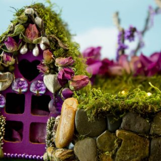 Rose Glen Fairy House, detail