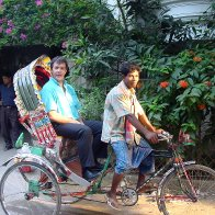 Rickshaws ym Mhangladesh
