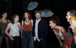 Matthew Rhys and grads from the Royal Welsh College after their NYC Showcase on Sept 26.
