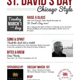 St. David's Day – Chicago Style!