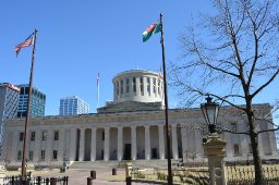 Welsh Flag Raising at the Ohio Statehouse celebrating St. David's Day