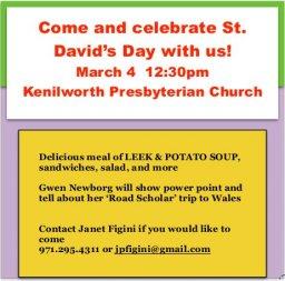 Portland - St David's Day Celebration