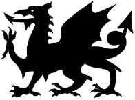 Welsh Dragon Halloween Stencil (Easy Pattern)