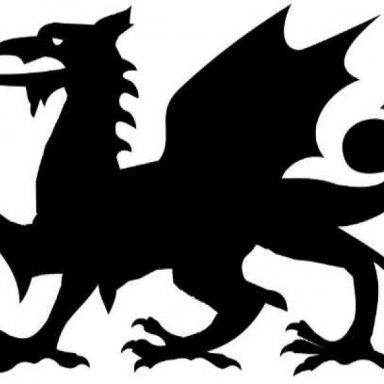 Welsh Dragon Halloween Stencil (Easy Pattern)