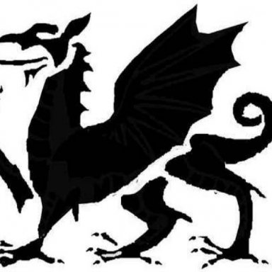 Welsh Dragon Halloween Stencil (Medium Difficulty Pattern)