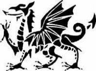 Welsh Dragon Halloween Stencil (Hard Pattern)
