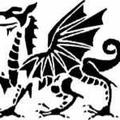 Welsh Dragon Halloween Stencil (Hard Pattern)