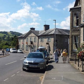 Heading to The Swan in Hay on Wye