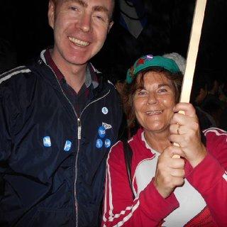 Adam Price with Gwenno Dafydd