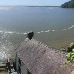 the view from above Dylan Thomas Boathouse.JPG.jpg