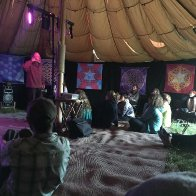 Storytellers at Unearthed in a Field