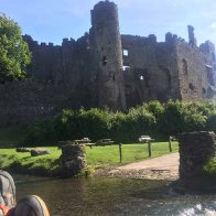 Chillin' in front of Laugharne Castle