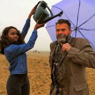 Rhys Hughes With Umbrella