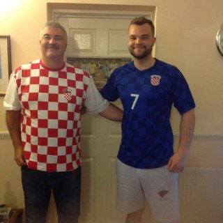 Supporting England with illustrator son Curtis Evans  in the 2018 World Cup