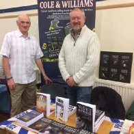 Nigel and I at the Llandeilo Book Fair.