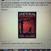 Kindle version of 'UNETHICAL CONDUCT'
