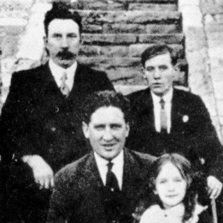 Jack Scarrott, JImmy Wilde, George Ballieau and his daughter Peggy.