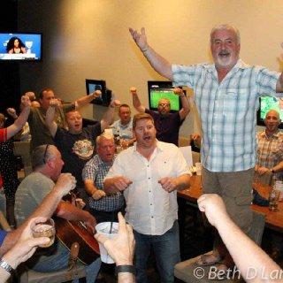 Photos of late night singing in Columbus in 2015