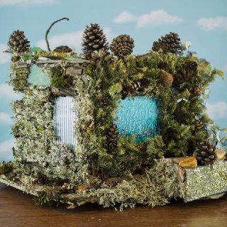 Hydrangea Fairy House, back view