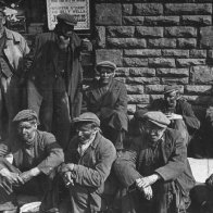 waiting for the bus rhondda 1940
