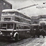 cardiff  bus station winter of 63