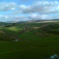 Mynydd Du o Castell Carreg Cennen