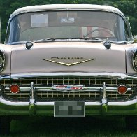 My First Car - 57 Chevy-4 Door Two Tone - Front View