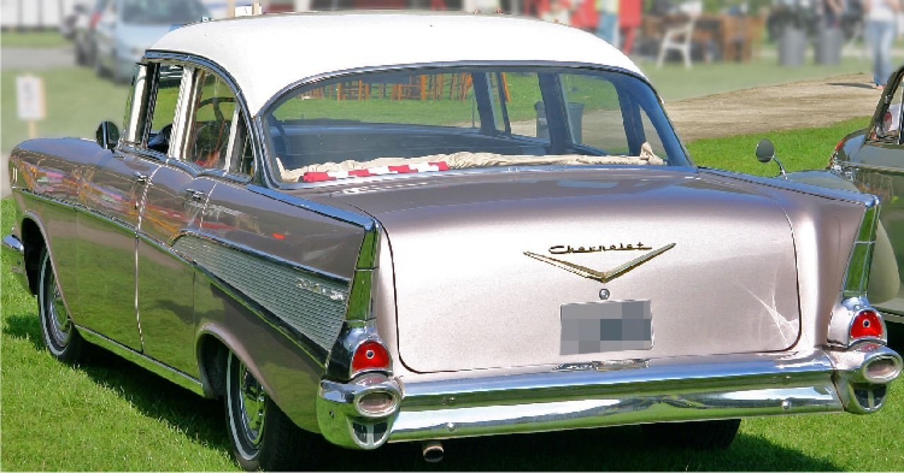 My First Car 57 Chevy 4 Door Two Tone Side View Gallery 1957 Bel Air Hardtop