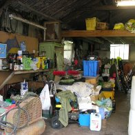 Inside of the Tin Shed before renovation work