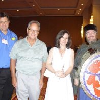 NAFOW Pittsburgh Sept 2009 - members of St. Davids Society  - Ian, Hayden, Jeannine and Rob prior to Gymanfa - pic 2 of 2