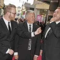 Host Huw Stephens, and Citation Readers Derek Brockway and Scott Quinnell
