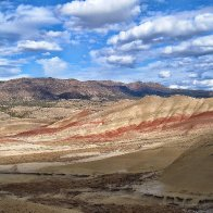 A view of the Painted Hills, Oregon