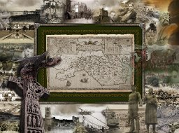 The Old County map of Glamorganshire