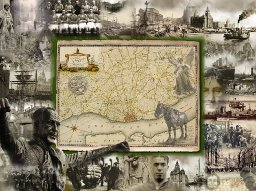 A pictorial map of the city of Liverpool