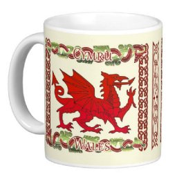Welsh Mug With Dragon And Celtic Knots, Welsh gift mug