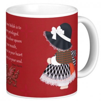 Little Welsh Lady, Poetry And Dragon Mug