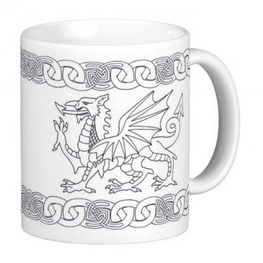 Welsh Dragon And Celtic Knot Design Gift Mug