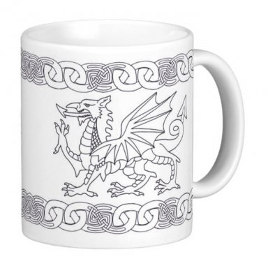Welsh Dragon And Celtic Knot Design Gift Mug
