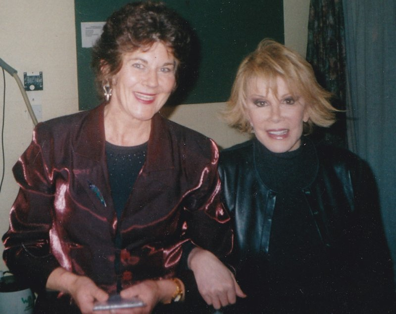Gwenno Dafydd and Joan Rivers